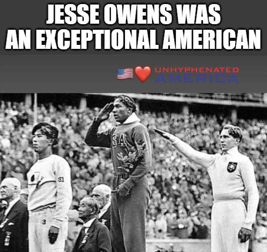 """Jesse Owens did more to combat racism than any modern """"protester""""."""